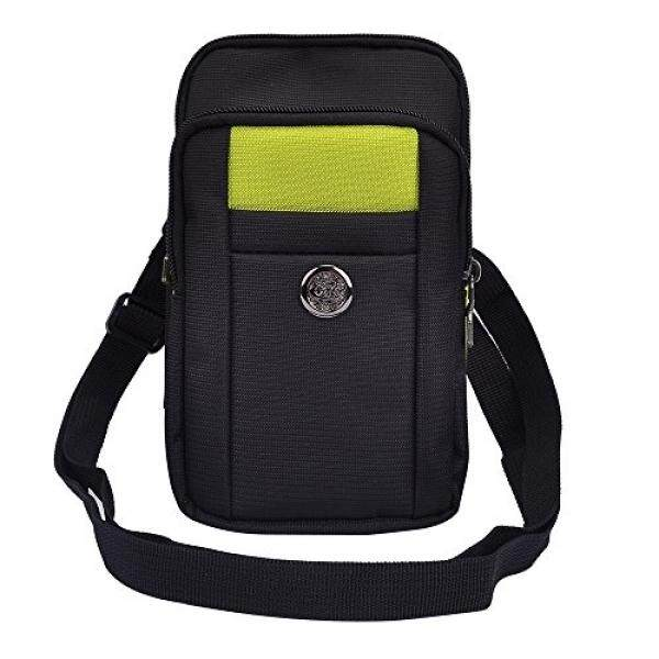 Micro USB Charge Cable + Outdoor Sports Traveling Pouch Bag Belt Clip Case for Samsung Galaxy S8 / S8+ / A5 A7 (2017) / C5 C7 Pro / J7 V / Xcover 4 / J3 Emerge 5 5.2 5.5 5.7 5.8 6.2 Inch Phone (Green) - intl
