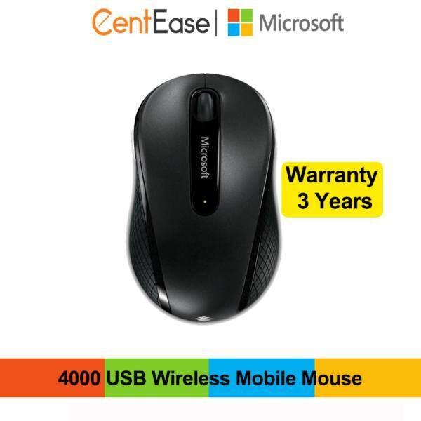 Microsoft 4000 USB Wireless Mobile Mouse- Black Malaysia