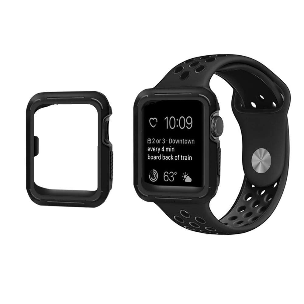 ... Home Lynx Case Cover Apple Watch 38mm Hitam Karet Miimall Apple Watch Case 42mm 2 Colors