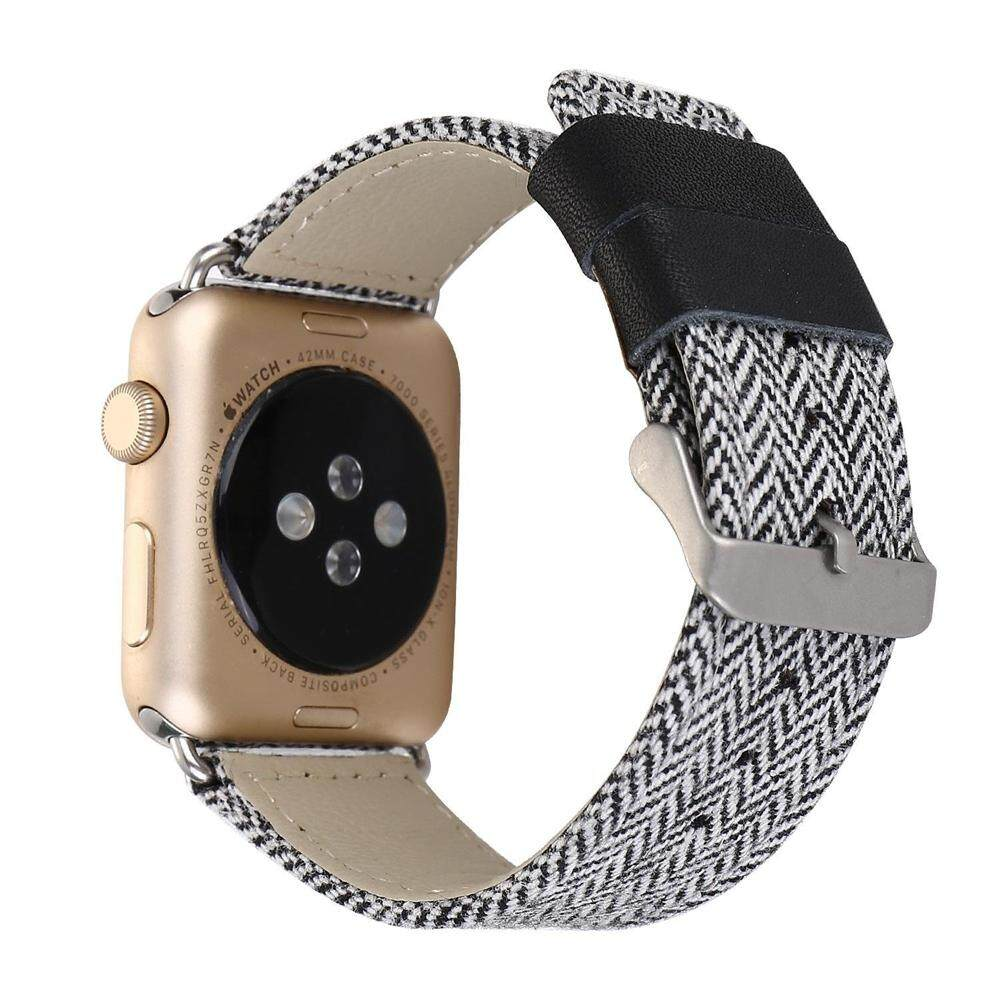 Buy Sell Cheapest Miimall Apple Watch Best Quality Product Deals Series 2 Alumunium Sport 42mm Smartwatch Rosegold Strap Comfortable Denim Fabric Replacement Wrist Band With Stainless