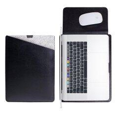 Miimall MacBook Pro 15 Inci dengan Bar Sentuhan Tas Laptop Case Pelindung Tempat Daun Lembut Penutup Ganda Saku Desain dengan Aman Interior dan Eksterior Alas Mouse untuk MacBook Pro 15 inci dengan Bar Sentuhan 2016/2017 Versi