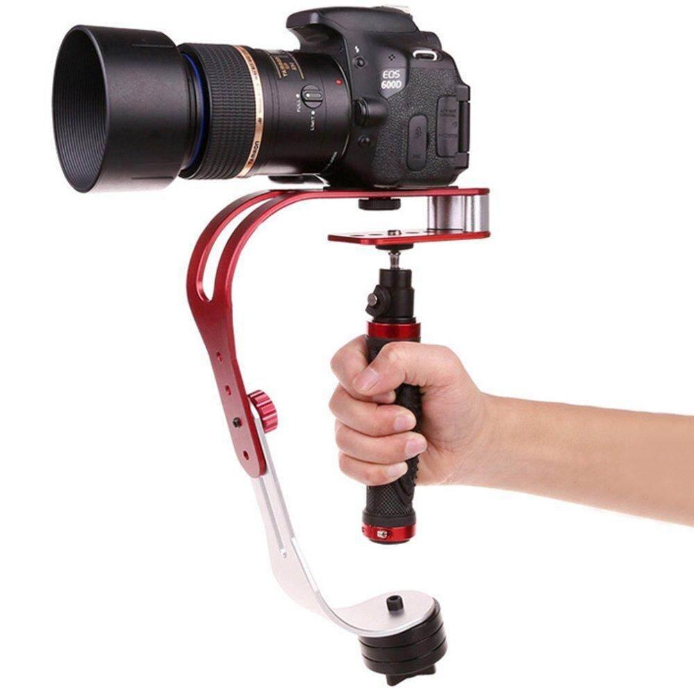 Miimall Pro Kamera Video Genggam Penyetabil Kuat, Hingga 2.1 Lbs dengan PRO Halus Stabil Kamera Meluncur Sempurna untuk GoPro, Meriam, nikon atau DSLR Kamera-Merah + Silver + Hitam