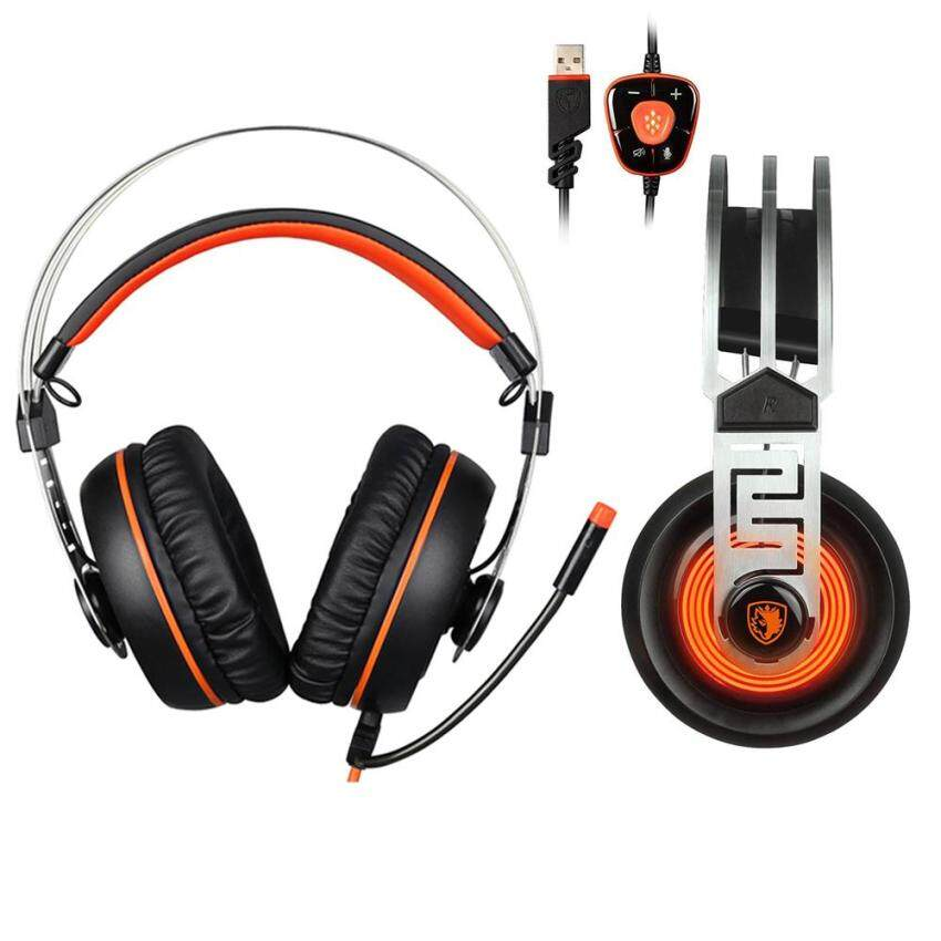 Miimall SADES A7 7.1 Virtual Surround Sound USB Gaming Headset with Microphone Intelligent Noise Cancelling Gaming