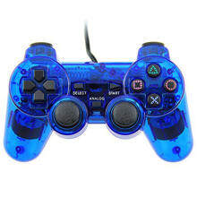 Miimall Wired Game Gaming Controller for PS2 (Blue)