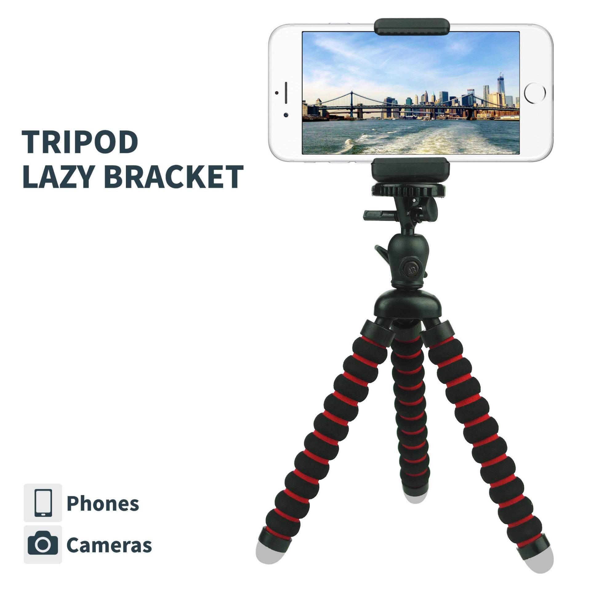 Ponsel Mini Stand Tripod. Fleksibel Ponsel Pemegang Gunung Gurita untuk iPhone. Samsung. Kamera