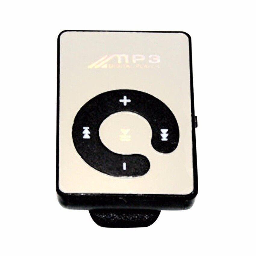 Mini Mirror Clip USB Digital Mp3 Music Player Support 8GB SD TFCard - intl