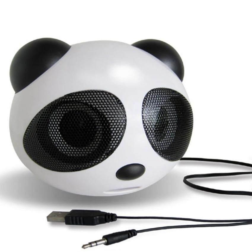 Mini Panda Shape Usb 2.0 Portable Active Speaker Stereo Speaker(Black/White) -