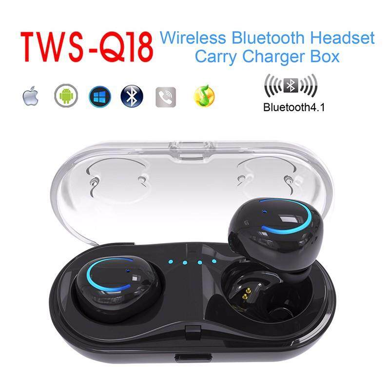 Cheaper Mini Tws Q18 Wireless Headphone Waterproof Bluetooth Headset Stereo Hifi Earphone Intl