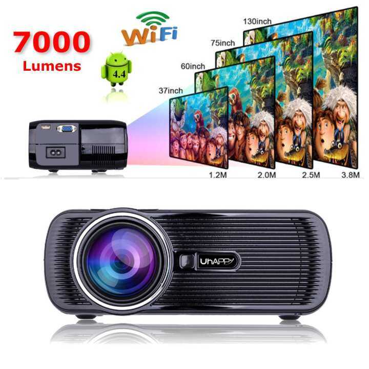 3800lumens 1080p Hd Led Projector Home Cinema Theater: Mini WIFI 7000 Lumens 1080P 3D HD LED Portable Projector
