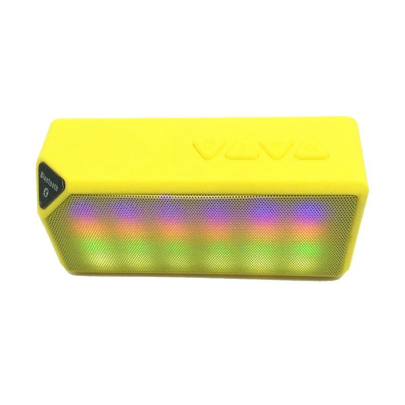Mini X3S Wireless Bluetooth Speaker LED Lights (Yellow) - intl