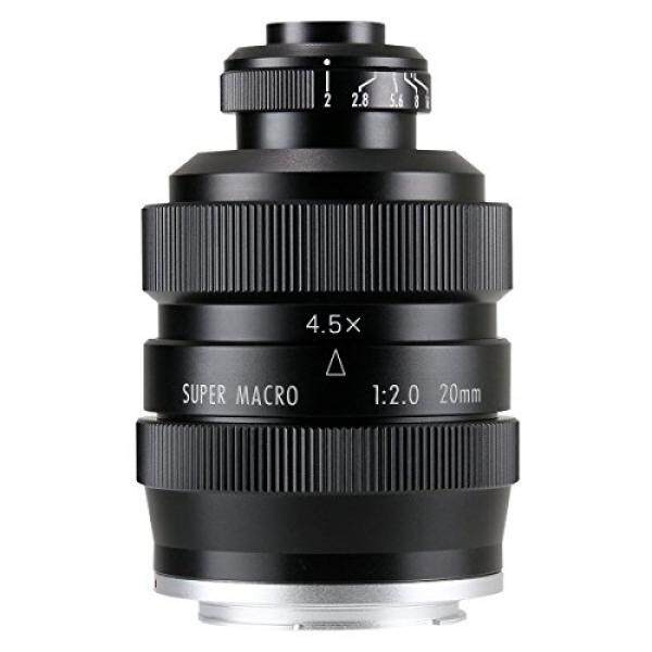 Mitakon 4.5X Super Macro Microscope Manual Lens 20mm f/2.0 for SONY E-mount Full Frame or APS-C - intl