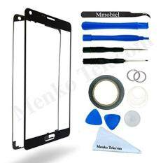 MMOBIEL Front Glass for Samsung Galaxy Note 5 N920 Series (Black) Display Touchscreen incl Tool Kit / Pre-cut Sticker / Tweezers/ Roll of 2mm Adhesive Tape / Suction Cup / Metal Wire / cleaning cloth