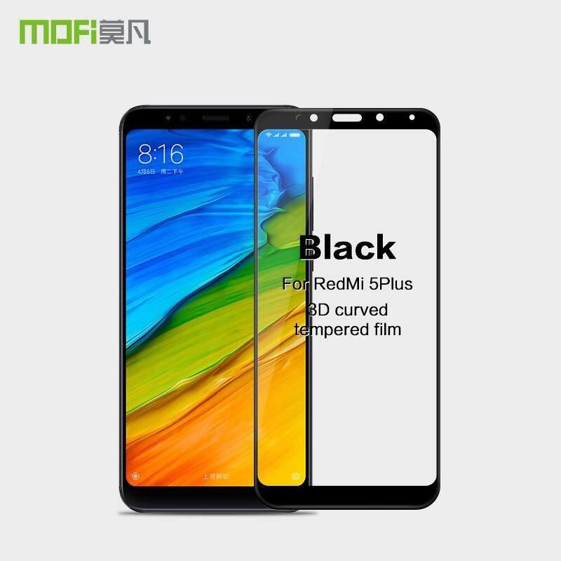 Mofi untuk Xiaomi Redmi Note 5 3D Layar Lengkung Cakupan Penuh Kaca Kokoh untuk Xiaomi Redmi 5 Plus-Intl