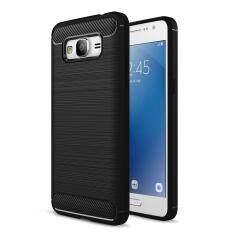 Moonmini Case for Samsung Galaxy J2 Prime Case Texture Carbon Fiber Anti-Slip Case Soft