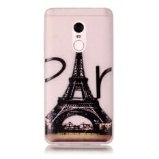 Moonmini Sarung untuk Xiaomi Redmi Note 4 Cahaya Neon Efek Bercahaya Lembut Case-Menara Eiffel
