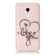 Moonmini Sarung untuk Xiaomi Redmi Note 4 Cahaya Neon Efek Bercahaya Lembut Case-Aku Cinta Anda