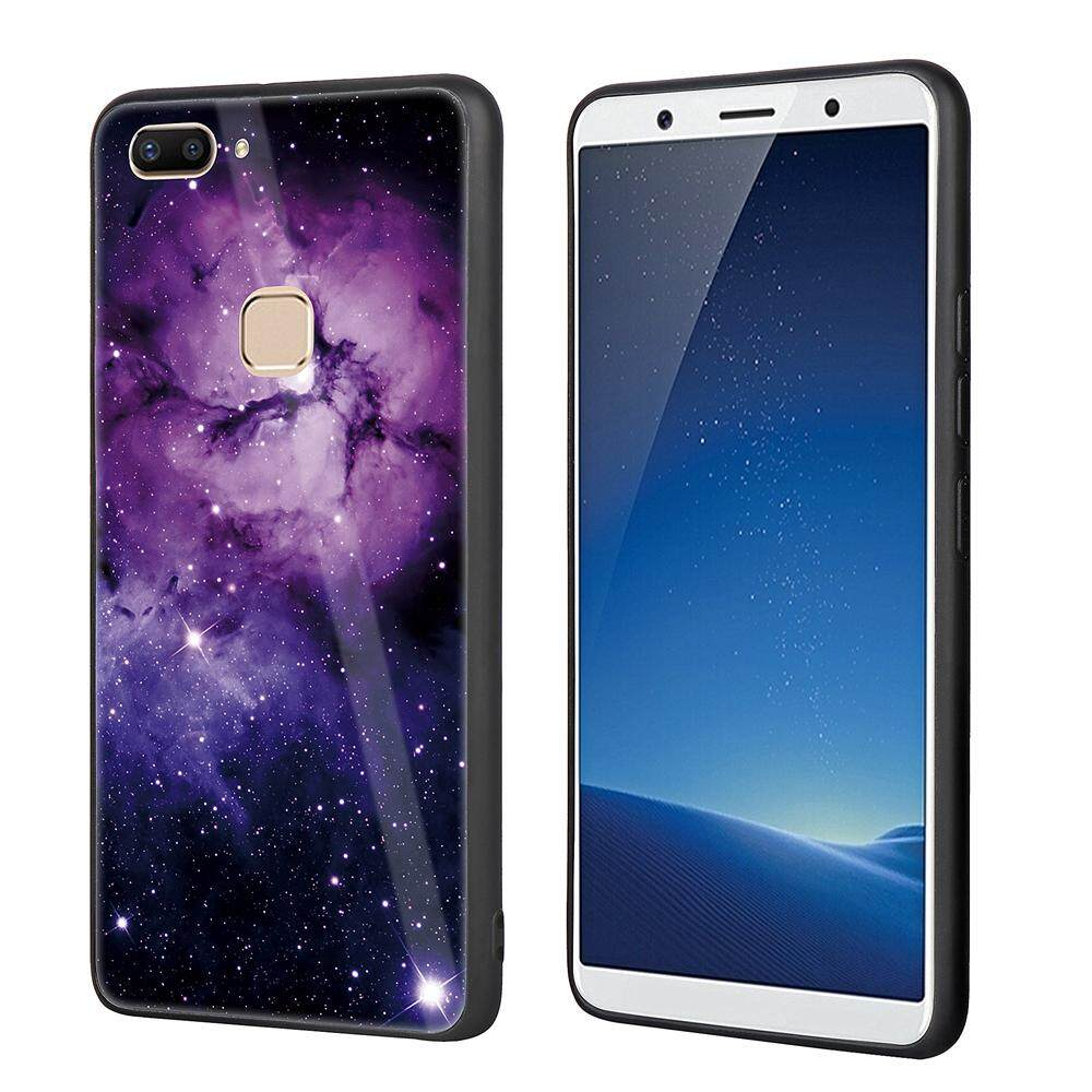 Moonmini For Vivo X20 Plus Case Tempered Glass Reinforced TPU Bumper Hybrid Air Cushion Scratch Resistant
