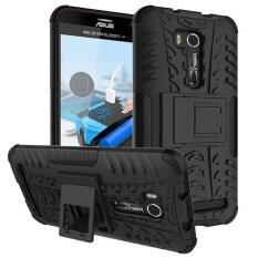 Moonmini Kickstand Shockproof Case Cover for Asus ZenFone Go ZB551KL 5.5 inch (Black)