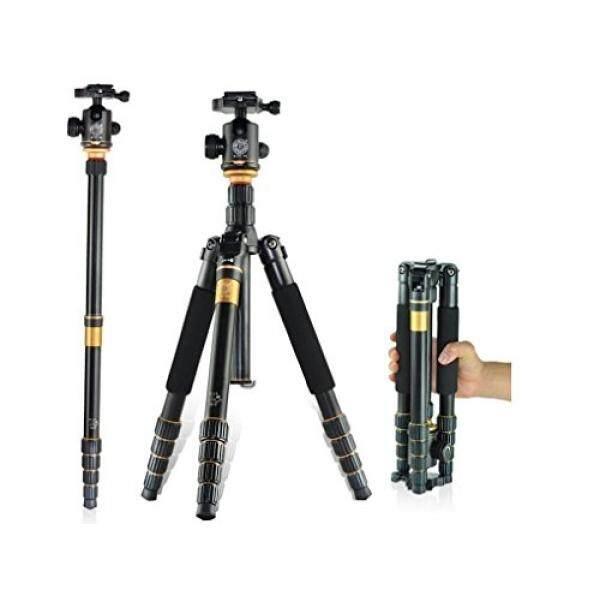MorjavaQ-666C Profesional Kompak Tripod Bahan Karbon Monopod dengan Ballhead & Rilis Cepat, Portable Tripod Perjalanan untuk Kamera DSLR Canon Nikon Pentax, beban Hingga 33 Lbs-Intl