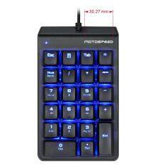 MOTOSPEED K22 Mechanical Numeric Keypad Red Switches Number Keyboard Portable Slim Blue Backlight USB Wired 22 Keys Finacially Dedicated for Laptop Desktop PC Notebook Black Malaysia