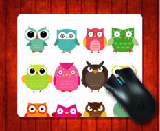 MousePad Cute Owls Animals Pattern for Mouse mat 240*200*3mm Gaming Mice Pad Malaysia