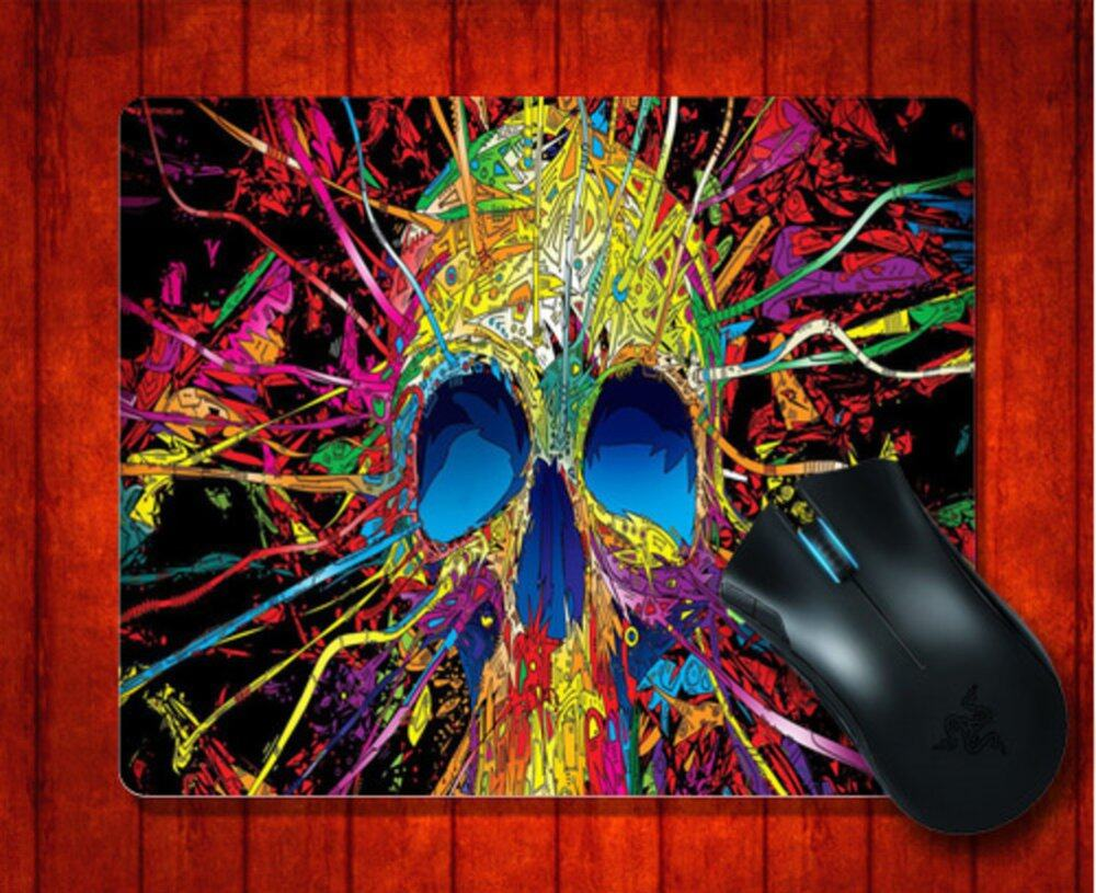 MousePad wan Colorful Skull for Mouse mat 240*200*3mm Gaming Mice Pad -
