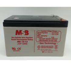 MSB 12V 12AH Rechargeable Sealed Lead Battery (MS12-12) Malaysia