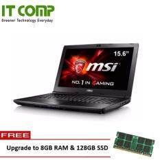 MSI GL62M 7RD-089MY 15.6˝ Gaming Notebook (i7-7700HQ/GTX1050 2G/4GB/1TB/W10) + Free Upgrade to 8GB RAM & 128GB SSD Malaysia