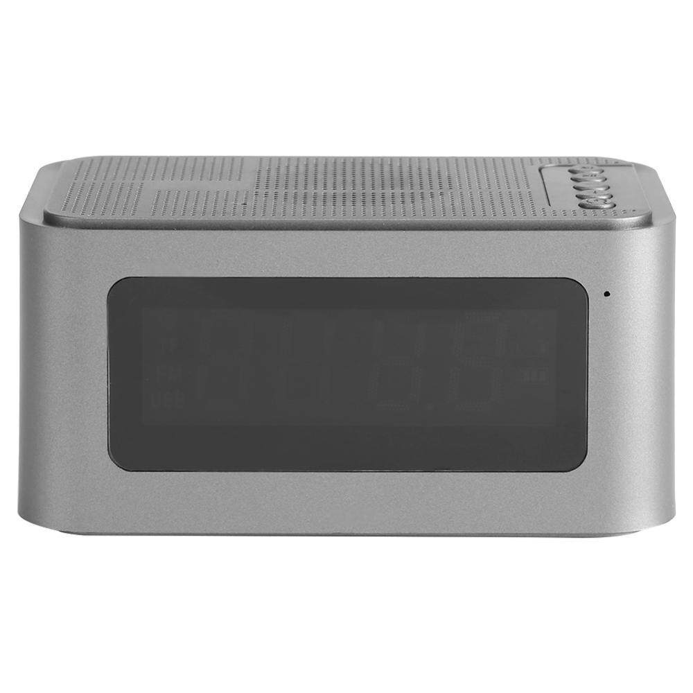 New Multi Function Bluetooth Digital Alarm Clock Led Display Stereo Speaker Fm Radio Mp3 Player Tf Intl
