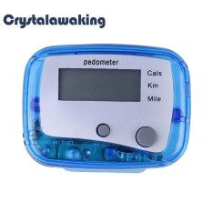 Multifunction Pedometer Walking Distance Calorie Passometer Counter Blue By Crystalawaking.