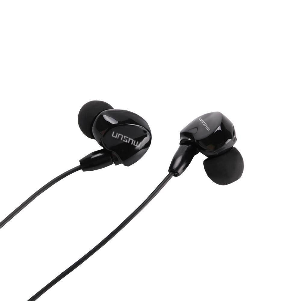 In Ear Binaural Stereo Headset 35mm Audio Plug Music Earphone Noise Cancellation Headphone With Mic White