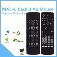 MX3-L 2.4G Backlit Wireless Air Mouse support IR Learning with Backlit MX3 Malaysia