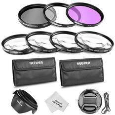 Neewer 58MM Professional Lens Filter and Close-up Macro Accessory Kit for Canon EOS 400D/ Xti;450D / Xsi; 1000D/ XS; 500D/T1i;550D/ T2i;600D/T3i; 650D/T4i;700D/T5i;100D;1100D; Nikon Sony Samsung Fujifilm Pentax and Other DSLR Camera Lenses with 58MM