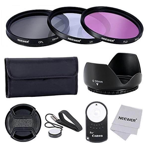 Neewer 58 Mm Professionelle Objektiv-Filter Zubeh? rsatz Und IR Drahtlose RC-6-Fernbedienung Set F? R Canon EOS Rebel T5i T4i T3i T3 T2i T1i XT Xti XSI SL1 Kameras-Intl