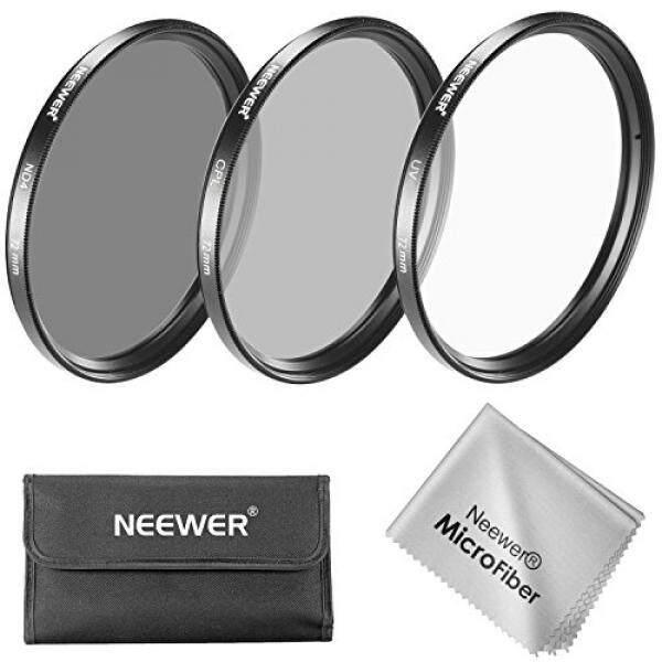 Neewer 72 Mm Filter Lensa Kit: filter Uv + Filter CPL + ND4 Filter + Filter Kantong + Kain Pembersih untuk Canon EOS EF-S 18-200 Mm F/ 3.5-5.6 Adalah Lensa Zoom, nikon 18-200 Mm F/3.5-5.6G AF-S ED VR II Lensa Zoom-Intl