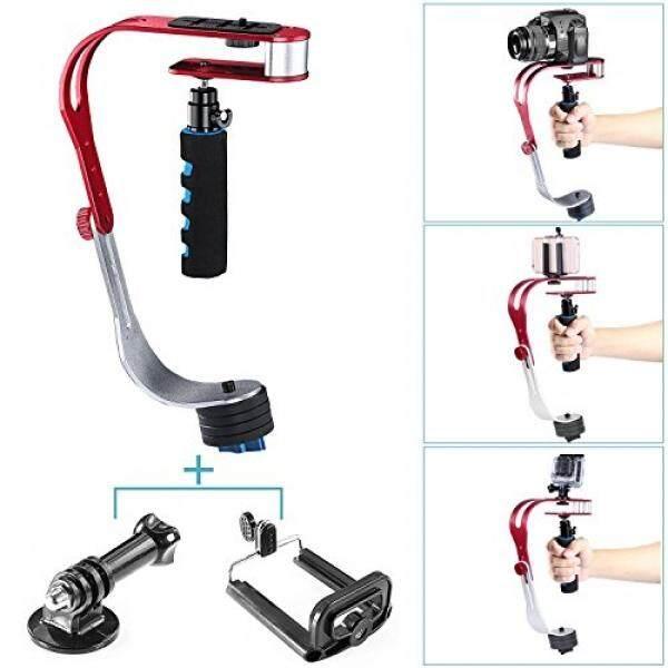 Neewer�� Aluminiumlegierung Handheld Handgriff Stabilizer Stabilisator, Belastbarkeit 2,1?/1Kg MIT Telefon-Klip Und Adaptor Dudukan F? R DSLR Kameras Wie Nikon, Canon, Sony A7/A7II/A7R/A7S, iphone 6 S/6/5 S/5/4 S/4, GOPRO-Intl