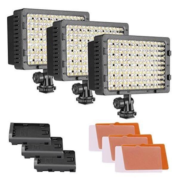 Neewer CN-160 3er Pack 160 LED Dimmbar Daya Ultra Tinggi Panel Digitalkamera/Kamera Perekam Video-Cahaya, LED Cahaya F? R Canon, Nikon, Pentax, Panasonic, Sony, Samsung Und Olympus SLR Digital Kameras-Intl