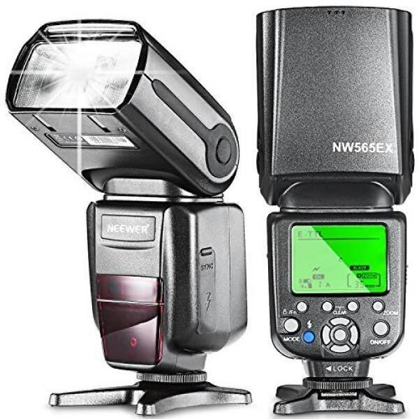 Neewer NW565EX-C E-TTL Budak Flash Speedlite Flash Diffuser untuk Canon 5D Mark III, 5D Mark II, 7D, 30D, 40D, 50D, 300D, 350D, 400D, 500D, 550D, 600D, 700D, 1000D, 1100D dan Canon Kamera DSLR-Intl
