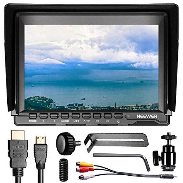 Neewer NW759 (C) 7 Zoll 1280X800 IPS Bildschirm Feld Monitor MIT HDMI Kabel F? R BMPCC AV Kabel F? R FPV, 16:10 Oder 4:3 F? R Sony Canon Nikon Olympus Pentax Panasonic (Batterien Sind Nicht Enthalten)-Intl