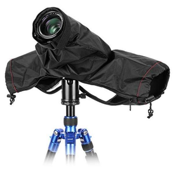 Neewer Kamera Pro Hujan Pelindung Cover Mantel Lengan Pelindung Debu Tahan Air Nilon Jas Hujan untuk Besar Canon, Nikon, Sony, pentax, Sigma Tamron dan Kamera DSLR (Hitam)-Intl