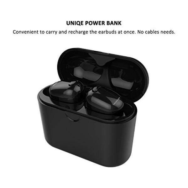 Nenrent S570 Tws Earbud Bluetooth, terkecil Mini Tak Terlihat V4.1 Nirkabel Dual Bluetooth Headset Kembar Headphone Earphone dengan 450 MAh Pengisian Case untuk Iphone Ipad Samsung Galaxy Htc Lg hitam 1 Pair-Intl