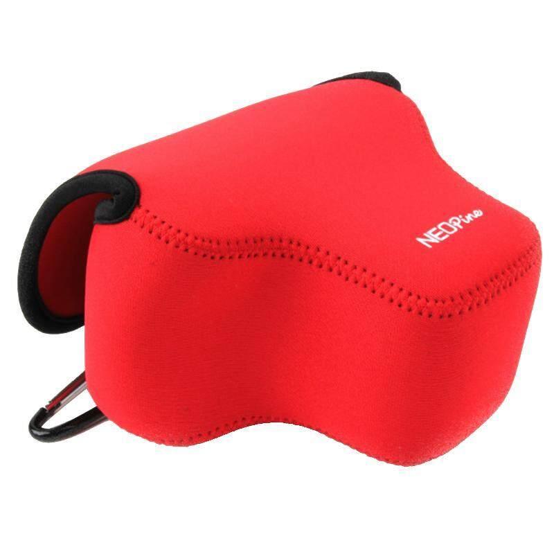 NEOpine Neoprene Anti Guncangan Lembut Tas dengan Kait untuk Canon SX60 Kamera (Merah)-Internasional