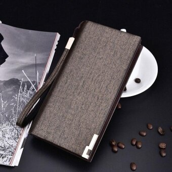 New Best Baellerry Business Mens Wallets Solid PU Leather LongWallet Portable Cash Purses Casual Standard Wallets
