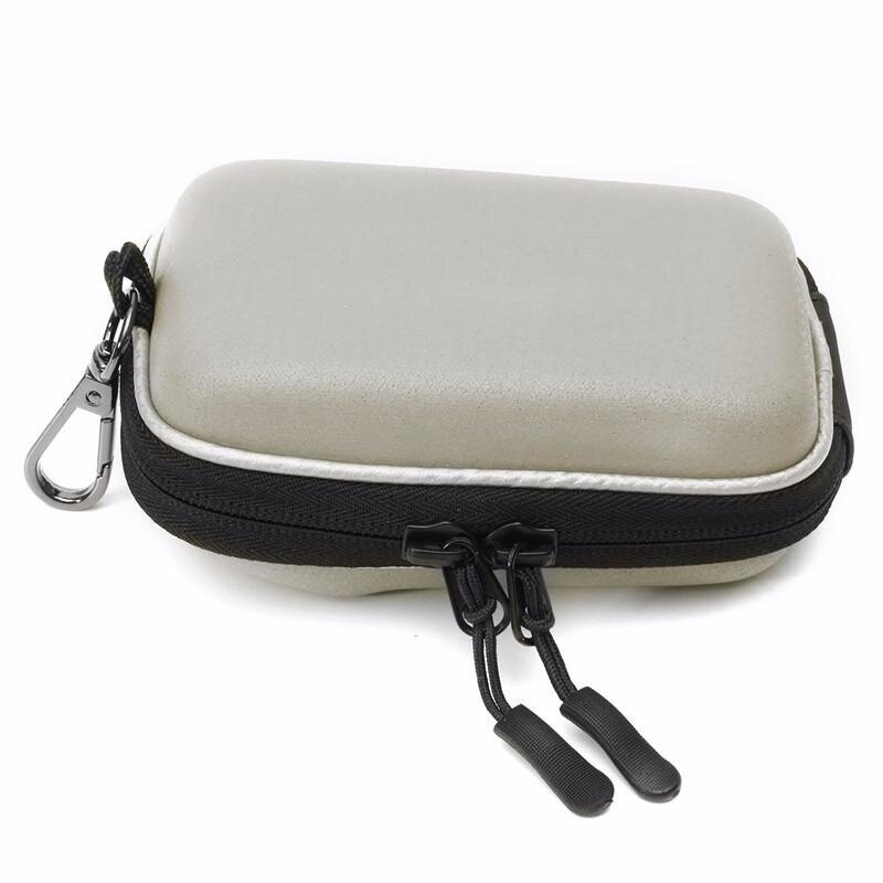 New Digital Camera Bag Case for Canon G9X G7X G7XII SX720 SX710 SX700 N100 SX280 SX275 SX260 SX240 A4000 A95 with Carabiner White