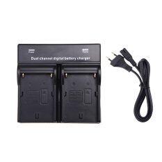 Baru Dual Channel Charger untuk NP-F970 F750 F960 QM91D FM50 FM500H FM55H