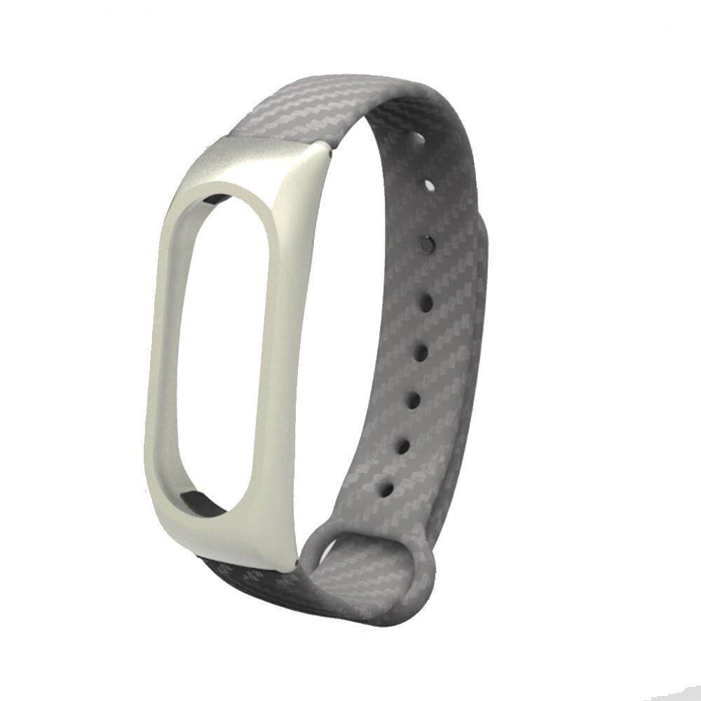New Fashion TPE Wristband Business Style Strap Bracelet For Xiaomi Mi Band 2 BK