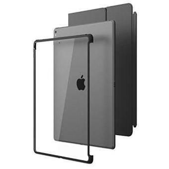 NICE KON ใหม่ iPad Pro 12.9 2017 กรณี I - Blason [ใช้งานร่วมกับ OfficialSmart และแป้นพิมพ์อัจฉริยะ] เคสแบบไฮบริดสำหรับ AppleiPad Pro 12.9 2017 Release (CLEAR/Black)-