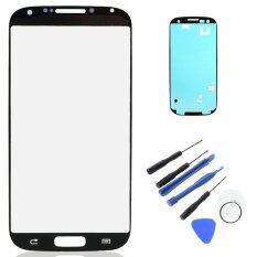 Baru LCD Luar Lensa Untuk Samsung Galaxy S4 I9500 Layar Sentuh Depan Glass Dengan Bezel Frame
