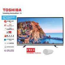 Toshiba [NEW MODEL]Toshiba 49U6750VM Chromecast 4K UHD LED tv 49'' (black) FOC towel