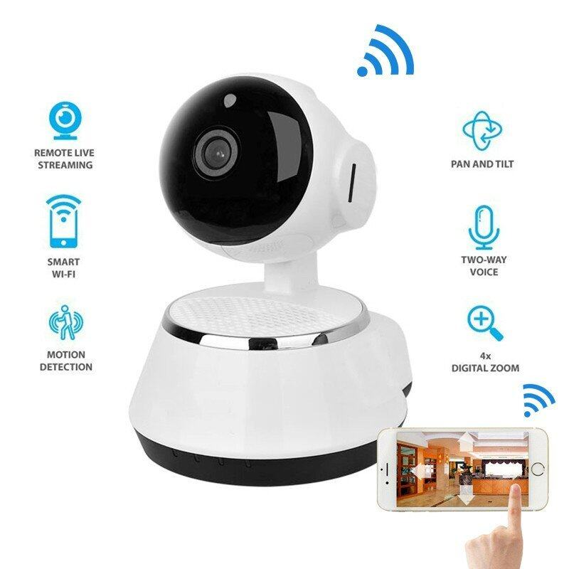 Cheaper Finemall New Pan Tilt Wireless Ip Camera Wifi 720P Cctv Home Security Cam Micro Sd Slot Support Microphone P2P Free App Abs Plastic Intl